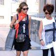 Ayda Field, la femme de Robbie Williams, fait du shopping à Milan, le 31 juillet 2013.