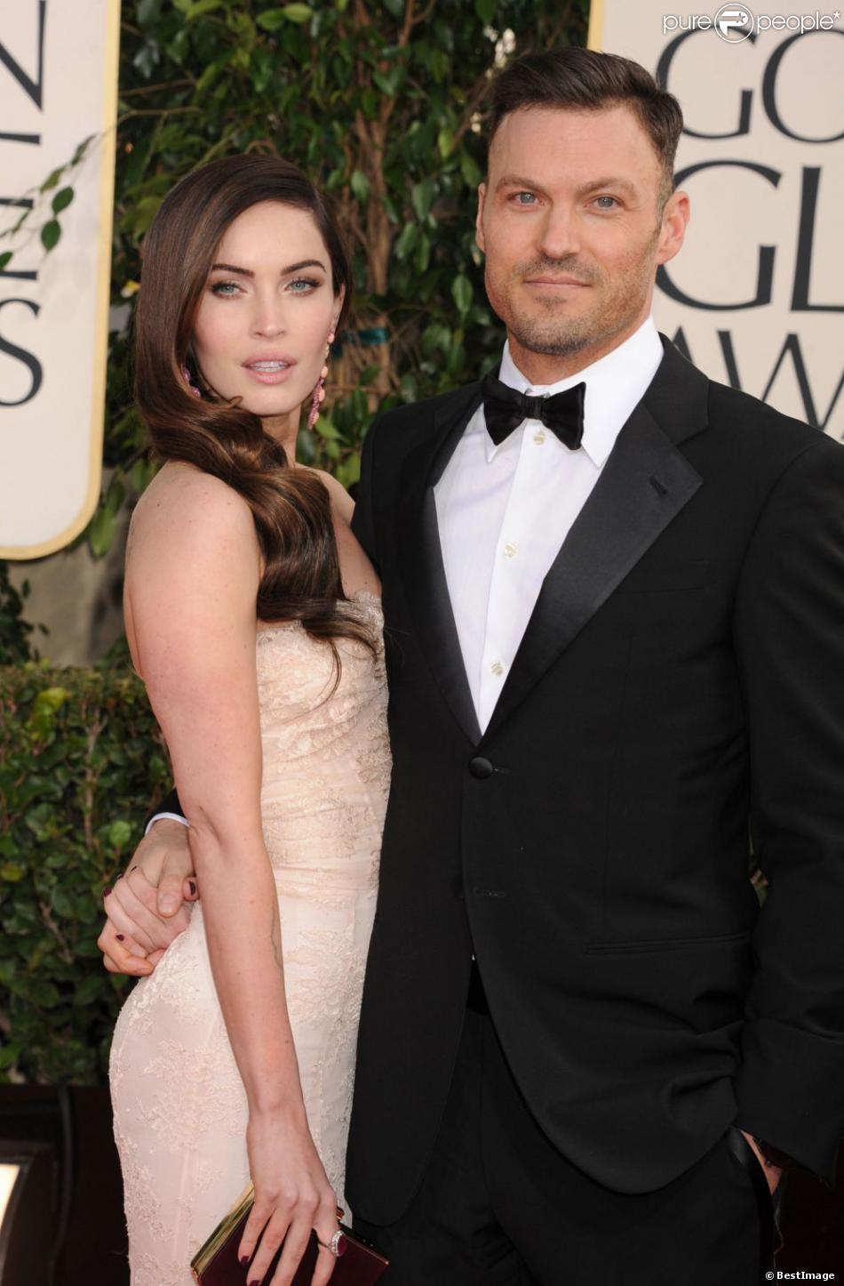 Megan Fox et Brian Austin Green lors des 70e Annual Golden Globe Awards à Los Angeles, le 12 janvier 2013.