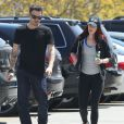 Exclusif - Megan Fox et Brian Austin Green dans les rues de Los Angeles, le 21 avril 2013.