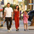 Megan Fox et Brian Austin Green en compagnie du fils de l'acteur, Kassius, à Santa Monica, le 4 septembre 2011.