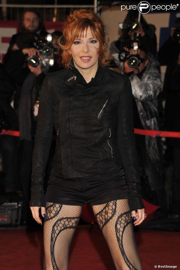Mylène Farmer à Cannes, le 28 janvier 2012.