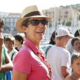 L'infante Elena d'Espagne à Majorque, Espagne, le 2 août 2013.