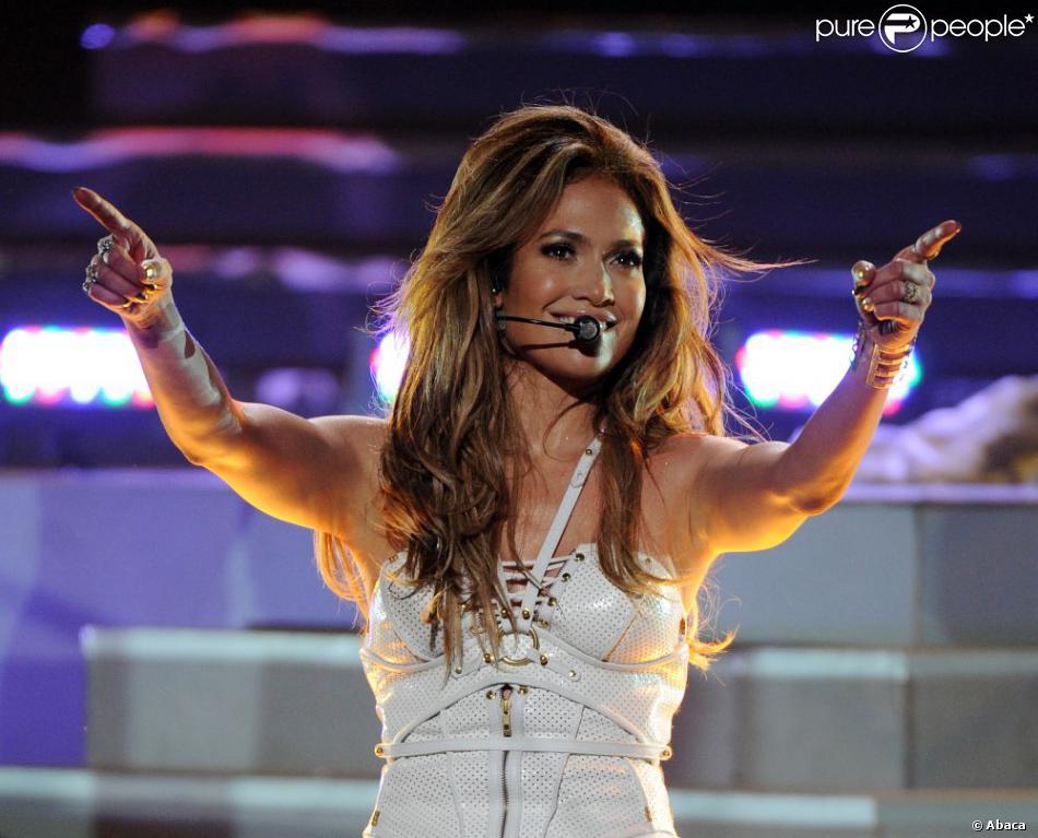 Jennifer Lopez sur le plateau de la 12e saison d'American Idol, le 16 mai 2013 à Los Angeles.
