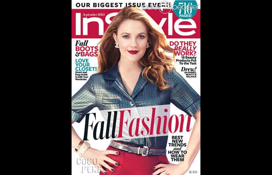 Drew Barrymore en couverture de InStyle magazine de septembre 2013