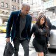 Kim Kardashian et Kanye West à New York, le 23 avril 2013.