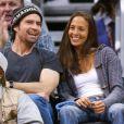Jason Patric et Danielle Schreiber en 2003 au Staples Center de Los Angeles.