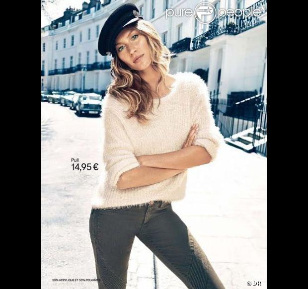 Le top model Gisele Bündchen pour H&M. Campagne publicitaire automne-hiver 2013.
