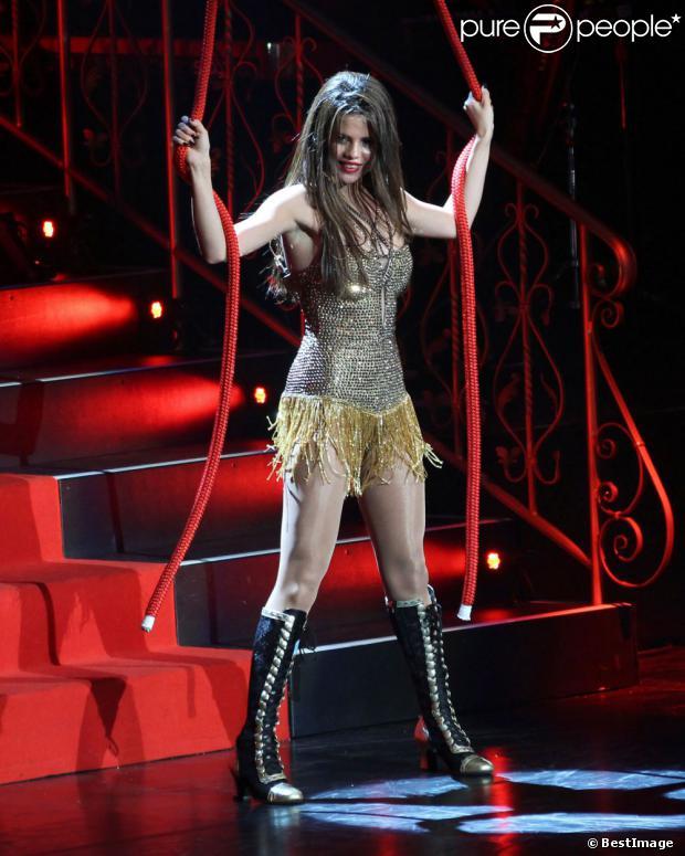 Selena Gomez lors de son concert au stade Rogers de Vancouver, le 14 août 2013.
