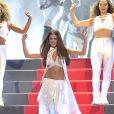 Selena Gomez lors du concert inaugural de sa tournée Stars Dance à Vancouver le 14 août 2013