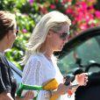 Exclusif - Jennie Garth sans maquillage dans les rues de Los Angeles, le 15 août 2013