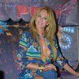 Rosalie van Breemen, ex-épouse d'Alain Delon, torride lors d'une soirée à thème au Pony Club de Kampen, où elle a une villa, sur l'île de Sylt dans le nord de l'Allemagne, le 17 août 2013.