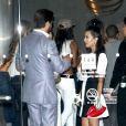 Kourtney Kardashian et Scott Disick arrive à l'anniversaire de Kylie Jenner à Los Angeles, le 17 août 2013.