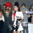 Kourtney Kardashian arrive à l'anniversaire de sa soeur Kylie Jenner à Los Angeles, le 17 août 2013.