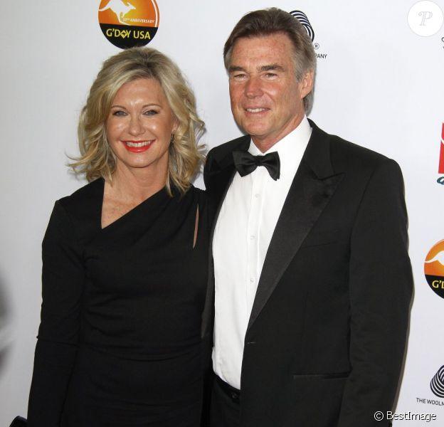 Olivia Newton-John et John Easterling à Los Angeles, le 12 janvier 2013.