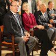 Le prince Albert II de Monaco et son épouse Charlene se sont rendus à Paroldo en Italie, le 18 août 2013. Le souverain a été fait Citoyen d'honneur de la ville avant d'aller assister avec la princesse à un concert dans l'église du village.