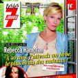 Rebecca Hampton, enceinte, en couverture de Télé 7 Jours, en kiosques le 29 avril 2013