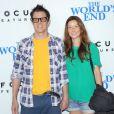 Johnny Knoxville et sa femme Naomi Nelson à la première du film Le Dernier pub avant la fin du monde (The World's End) à Los Angeles, le 21 août 2013.