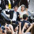 Mariage de la princesse Madeleine de Suède et Chris O'Neill le 8 juin 2013 à Stockholm