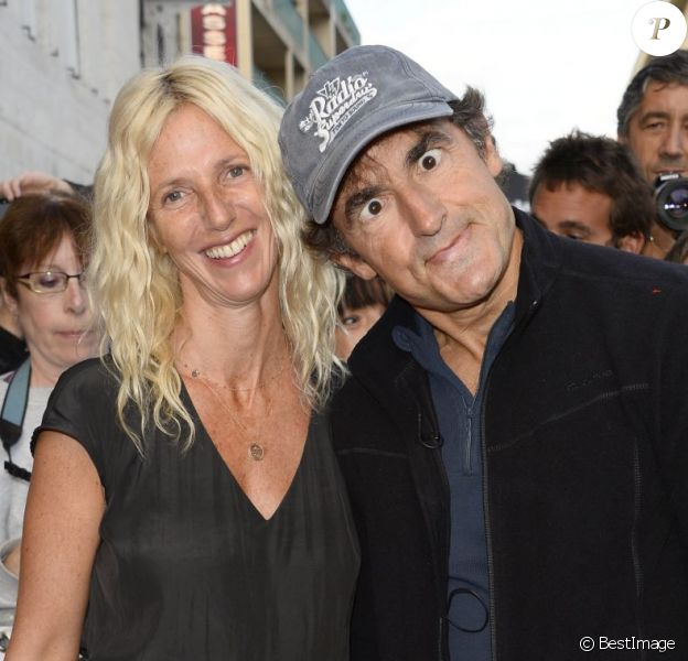 Sandrine Kiberlain et Albert Dupontel au 6e Festival du Film Francophone d'Angoulême, pour Neuf mois ferme, le 25 août 2013.