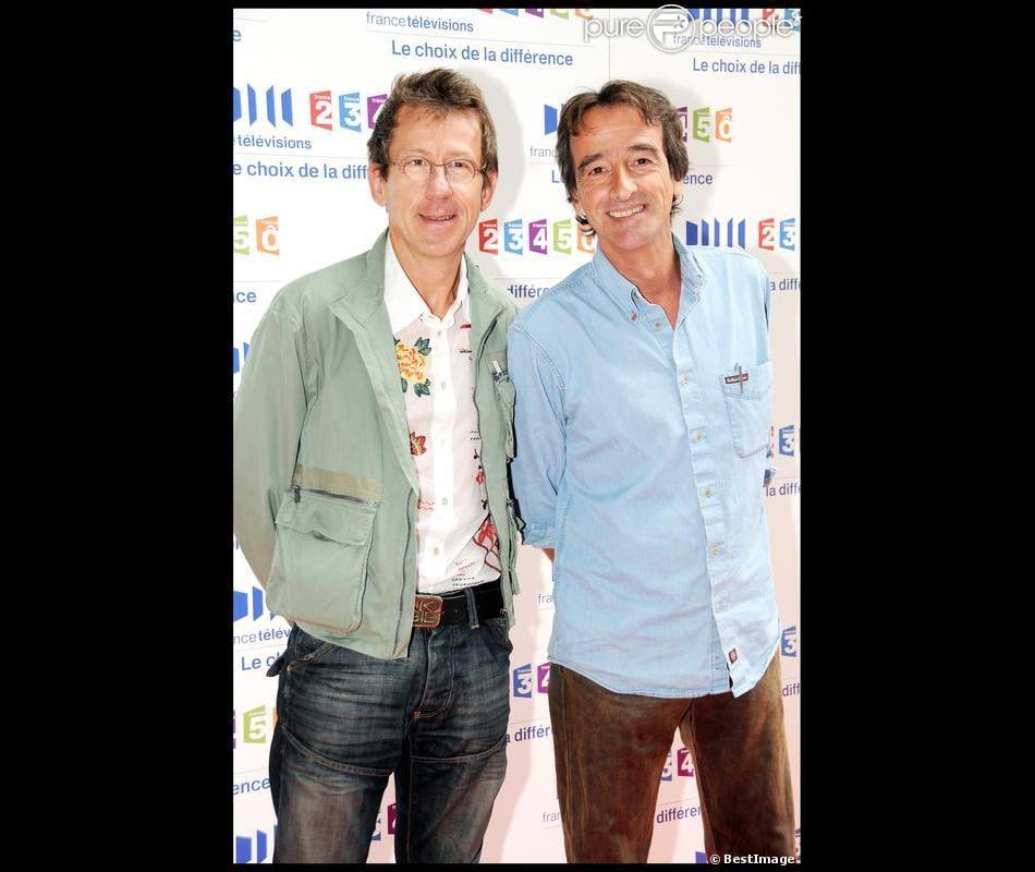 Jamy Gourmaud et Frédéric Courant le 28 août 2008 à Paris.
