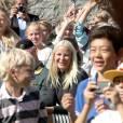 La princesse Mette-Marit de Norvège inaugurait le 28 août 2013 dans le parc de la citadelle d'Akershus, à Oslo, des sculptures réalisées par des écoliers, exposées pour trois ans.