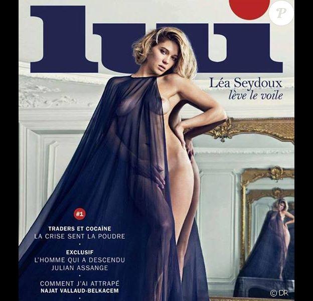 Le premier nouveau numéro du magazine Lui depuis son relancement, avec Léa Seydoux nue en couverture