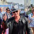 Christophe Dechavanne en forme lors de la première du film Le Majordome à Deauville, le 31 août 2013.