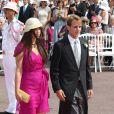 Andrea Casiraghi et Tatiana Santo Domingo lors du mariage religieux du prince Albert et Charlene à Monaco le 2 juillet 2011