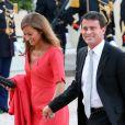Manuel Valls et sa femme Anne Gravoin lors d'un dîner d'Etat à l'Elysée le 3 septembre 2013.