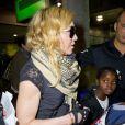 Madonna et ses enfants à l'aéroport de New York, le 3 septembre 2013.