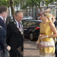 """"""" La reine Maxima des Pays-Bas inaugurait après rénovation les serres tropicales de Hortus Botanicus Leiden, le jardin botanique de Leyde, le 4 septembre 2013 """""""