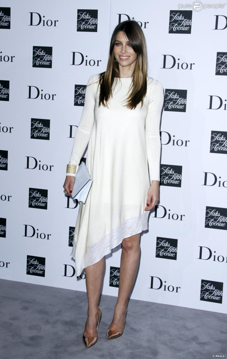 Jessica Biel assiste à la soirée Dior au centre commercial Saks Fifth Avenue. New York, le 6 septembre 2013.