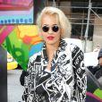 Rita Ora lors du défilé DKNY printemps-été 2014 au studio Cedar Lake. New York, le 8 septembre 2013.