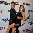 Laury Thilleman et Maxime Dereymez lors de la conférence de presse de Danse avec les stars 4 à Paris chez TF1 le 10 septembre 2013