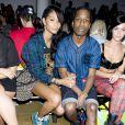 Chanel Iman et A$AP Rocky assistent au défilé Jeremy Scott printemps-été 2014 aux studios Milk. New York, le 11 septembre 2013.