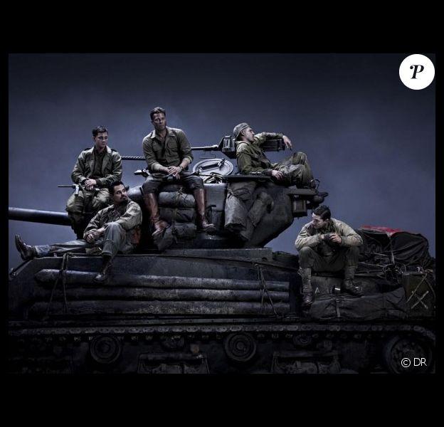 Première image du film Fury avec Brad Pitt, Shia LaBeouf, Logan Lerman, Michael Pena et Jon Bernthal.