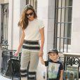 Miranda Kerr et son fils Flynn dans les rues de New York, le 20 Septembre 2013.