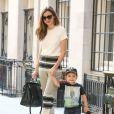 Le top Miranda Kerr et son fils Flynn à New York, le 20 Septembre 2013.