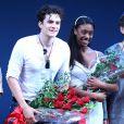 """Orlando Bloom sur scène pour la première de sa pièce de théâtre """"Roméo et Juliet"""" à New York, le 19 septembre 2013."""