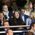 Femmes de joueursdu PSG lors du match contre Monaco au Parc des Princes le 22 septembre 2013.