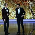 Host Neil Patrick Harris et Jimmy Kimmel lors des 65e Primetime Emmy Awards à Los Angeles, le 22 septembre 2013.