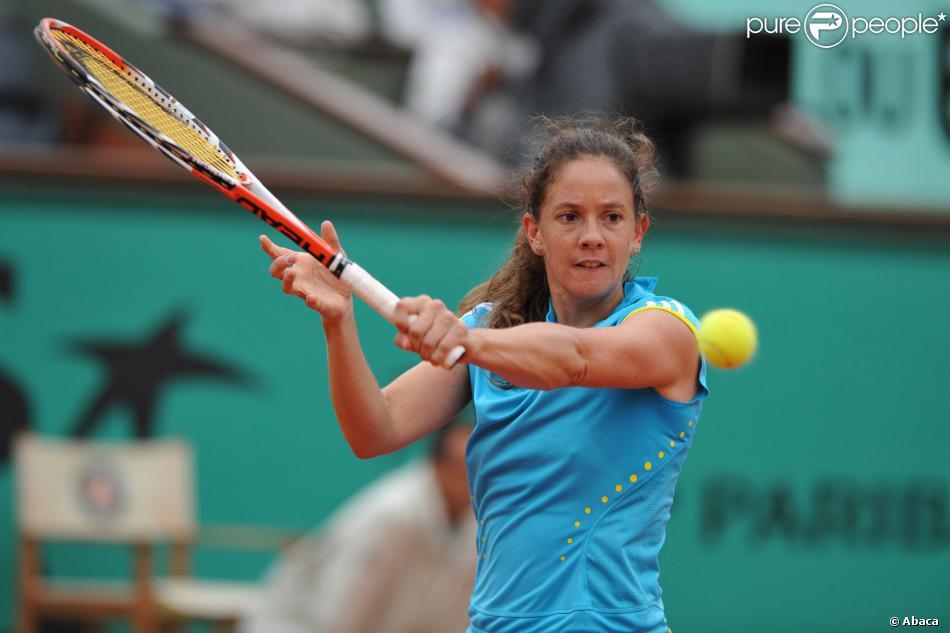 Patty Schnyder à Roland-Garros le 3 juin 2008.
