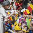 Le roi Philippe et la reine Mathilde de Belgique à Hasselt le 24 septembre 2013 dans le cadre de leur tournée inaugurale ''Joyeuses entrées''