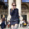 Olivia Palermo à l'entrée du Grand Palais lors du défilé Carven printemps-été 2014. Paris, le 26 septembre 2013.