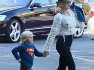 Gwen Stefani : Enceinte, une maman stylée au côté de son super héros Zuma