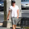 """Exclusif - Liam Hemsworth s'est rasé la barbe sur le tournage du film """"Hunger Games : La Révolte, partie 1"""" à Atlanta, le 20 septembre 2013."""