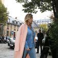 Kim Kardashian à Saint-Germain-des-Pres district se balade le 1er octobre 2013 à Paris