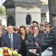 Obsèques de Jean-Pierre Pierre-Bloch au cimetière du Montparnasse à Paris, le 2 octobre 2013