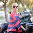 """""""Gwen Stefani, enceinte et ravissante, quitte un goûter d'anniversaire. Los Angeles, le 5 octobre 2013."""""""