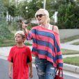 """""""Gwen Stefani et son fils Kingston se rendent à un goûter d'anniversaire. Los Angeles, le 5 octobre 2013."""""""